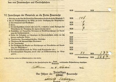 Kostenvoranschalg - 1942