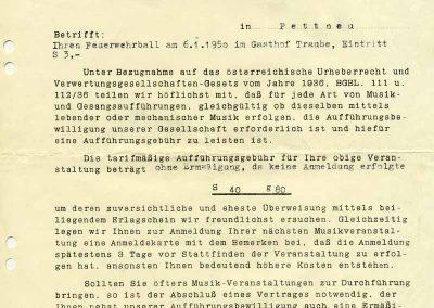 Rechnung AKM - 1950