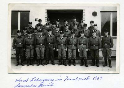 Lampacher Heinrich beim Kommandatenlehrang