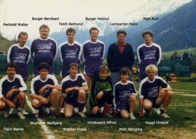Mannschaftsfoto Pfingstturnier 1987