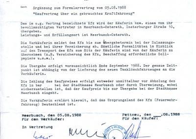 Kaufvertrag vom TLF 16