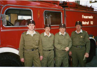 Abordnung der Feuerwehr Pettneu