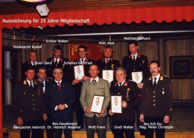 Auszeichnung 25 jährige Mitgliedschaft