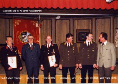 Auszeichnung 40 jährige Mitgliedschaft