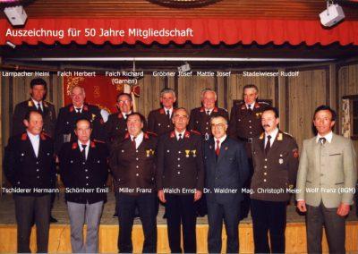 Auszeichnung 50 jährige Mitgliedschaft