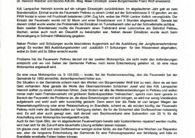 Bericht über die Jahreshauptversammlung 1992