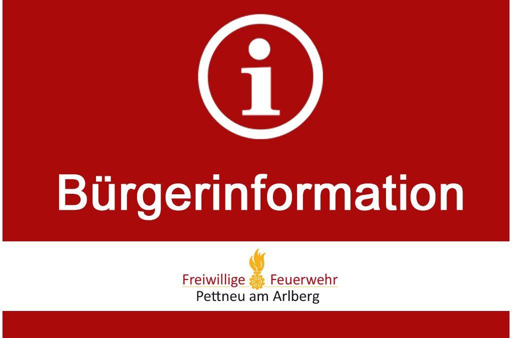 Bürgerinformation – 10.08.2017
