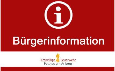 Information Gemeindeeinsatzleitung – 13.08.2018