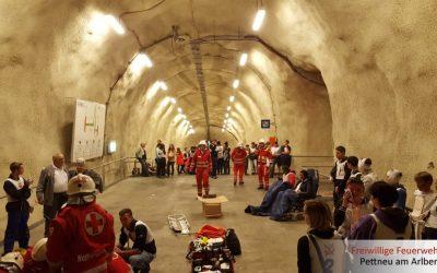 Großübung im Arlbergtunnel