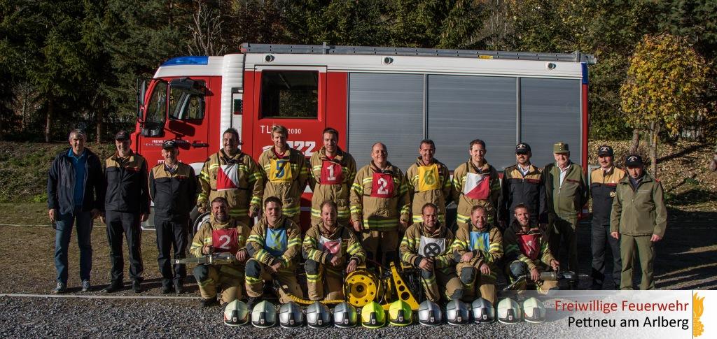 Feuerwehr Pettneu besteht Technische Leistungsprüfung Form A in Gold