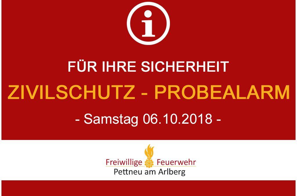 Zivilschutz-Probealarm – 06.10.2018