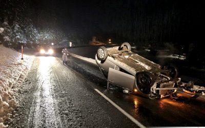 Fahrzeugüberschlag ohne Personenschaden