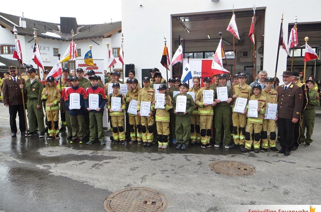 Wissenstest der Feuerwehrjugend des Bezirkes Landeck