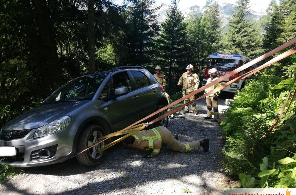Fahrzeug Bergung im Malfontal