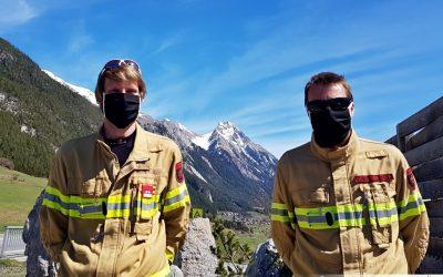 Neue Stoffmasken erhalten