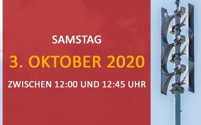 Zivilschutz-Probealarm 3. Oktober 2020