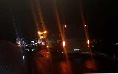 Motorbrand bei einem Bus