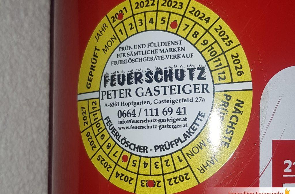 Feuerlöscherüberprüfung 2021