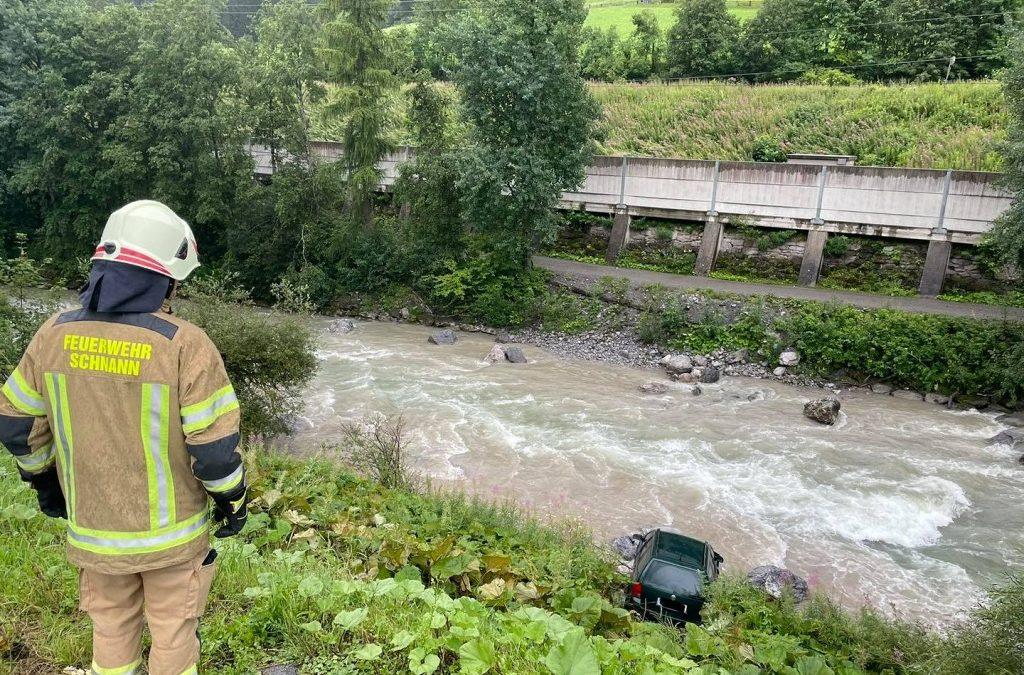 Verkehrsunfall in Schnann